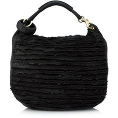 Pre-owned Jimmy Choo Shoulder Bag ($1,090) ❤ liked on Polyvore featuring bags, handbags, shoulder bags, black, genuine leather handbags, shoulder bag purse, shoulder hand bags, jimmy choo shoulder bag and leather fringe purse