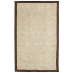 Jute Chenille Border Rug - Brown 8x10