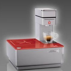 Y1 Espresso Machine Set Red by illy