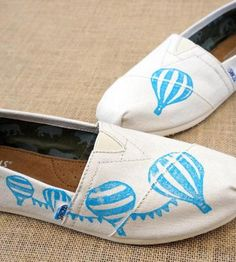Hot Air Balloon Toms Shoes by The Matt Butler