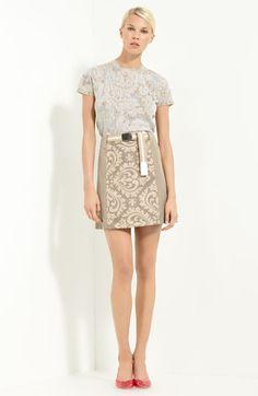 MARC JACOBS Cashmere Sweater & Damask Panel Skirt   Nordstrom