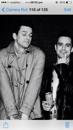Brendon Urie and Dallon Weekes or 'Brallon'