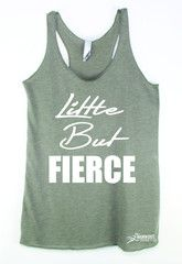 Little But Fierce Gym Tank Top from The Workout Princess