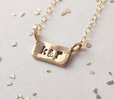 itty bitty bar custom initial monogram date necklace by makepienotwar on Etsy https://www.etsy.com/listing/176011164/itty-bitty-bar-custom-initial-monogram