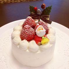 クリスマスケーキ | 今年のクリスマスケーキ。デコレーション奮闘しましたが、今までで一番上手くできた〜о(ж>▽<)y ☆