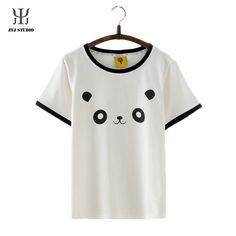 Aliexpress.com : Buy Summer Casual Loose Blouses For Women Short Sleeve O Neck Cotton Shirt With Cartoon Panda Pattern Cute Sweet Blouses from Reliable shirt white suppliers on JYJ STUDIO Cartoon Panda, White China, Cheap Shirts, Jyj, Blouses For Women, Studio, Sweet, Casual, Cute