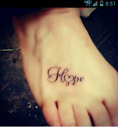Hope. Such pretty font