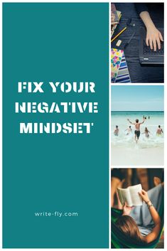 Learn how to counter your negative thinking and transform your outlook! Better Writing, Cool Writing, College Success, Uni Life, Negative Thinking, Fix You, Positive Mindset, You Changed, Counter