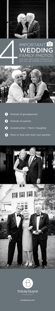 Important family wedding photos you may not have thought of, but are important to add to wedding photo checklist for your photographer