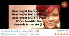 Download Rihanna diamonds lyrics print videos mp3 - download Rihanna diamonds lyrics print...