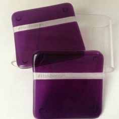 Elegance coasters - Purple ( please note writing on clear part is for watermarking purposes only)