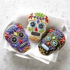 Giant Day of the Dead Cookies #williamssonoma
