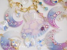 Kawaii Jewelry, Cute Jewelry, Diy Jewelry, Jewelery, Diy Resin Crafts, Glue Crafts, Diy Arts And Crafts, Plastic Resin, Uv Resin