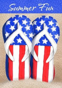 """Decorative Flag Patriotic Flip Flops Double Sided 28X40 By Custom Decor by Custom Decor. $18.95. Flag holder sold separately.. Measures 28"""" by 40"""".. Coordinating flags, mailbox cover and rug also available.. Fine knit fabric; image readable on both sides.. You will love the vibrant colors of this American made large flag. Display it with pride in your garden or front yard. This large flag measures 28 inches by 40 inches. You will appreciate the soft feel, fine kni..."""