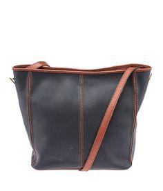 Bottega Veneta Vintage Black & Brown Leather Shoulder Bag