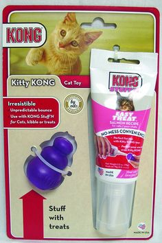 Kong Company-Kitty Kong and Stuff N Salmon- Salmon *** Be sure to check out this awesome product.