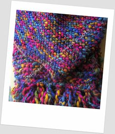 Recycled Rainbow Scarf and Hat Set by Anneatcountrybazaar on Etsy, £25.00