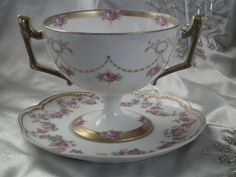 1875 Limoges Cup & Saucer