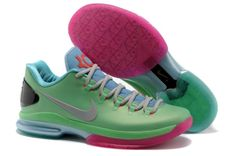 Nike Zoom Kevin Durant's KD V Elite Low Basketball shoes Green/Grey