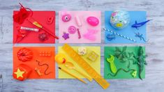 Invite your children to go on a Color Hunt! Craft Activities For Kids, Classroom Activities, Learning Activities, Crafts For Kids, Teaching Shapes, Teaching Colors, Teaching Ideas, Easy Science Experiments, Preschool At Home