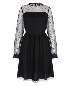 Look at this Black Pin Dot Fit & Flare Dress on #zulily today!