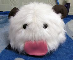 plush inspired poro from League of Legends.