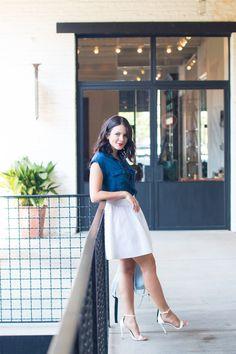 Jessica Simpson lace up chambray shirt - summer outfit ideas - My Style Vita @mystylevita