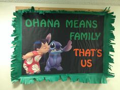 Fun Lilo and Stitch bulletin board!! #reslife #ra #bulletinboard