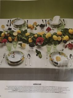 IO DONNA Wedding Book - SS 2017 - gorgeous table dressed with our linen tablecloth - styling @Cristiano Vitali #marinacmilano