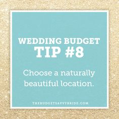We break down how choosing a Naturally Beautiful Wedding Location will save you money on your wedding!