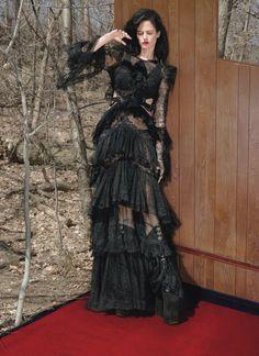 Eva Green, Is Not Afraid of the Dark: Eva Green by Mert & Marcus for W Magazine August 2016 - Roberto Cavalli gown