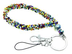 """Hand Beaded key chain or cell phone strap. 8"""". $7.00, via Etsy."""