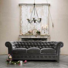 gray velvet sofa- formal lounge?