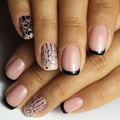 Beautiful Stylish and Trendy Nail Art Designs for Christmas It's just a few months and it's Christmas Love Nails, Pretty Nails, Nail Art Designs, Simple Nail Designs, Brittle Nails, Trendy Nail Art, Super Nails, Fabulous Nails, French Nails