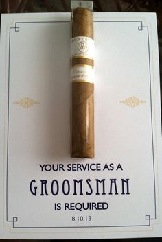 "18 Groomsmen Proposal Ideas ""Will You Be My Groomsman"" ❤ See more: http://www.weddingforward.com/groomsmen-proposal-ideas/ #wedding #proposal #groomsmen"