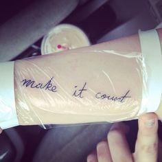 "My titanic tattoo (: ""make it count"""