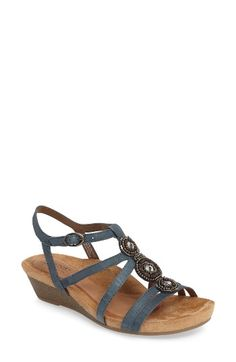 Free shipping and returns on Rockport Cobb Hill 'Hannah' Leather Sandal (Women) at Nordstrom.com. Beaded, crystal-embellished medallions extend the vintage sophistication of a strappy wedge sandal featuring smooth leather composition and a signature comfort-focused insole.