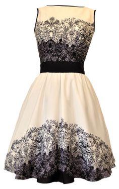 Beautiful Paisley Border Tea Dress