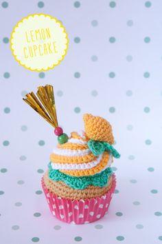 "Lemon crochet cupcake By ""I am a Mess"""