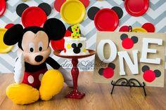 One Year Cake Smash, Boy,  Mickey Mouse, Denise Crites Photography
