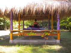 Quiet meditation in the gazebo at yoga on Gili Air Outdoor Yoga, Outdoor Decor, Eight Limbs Of Yoga, Gili Air, Gili Island, Islands, Gazebo, Meditation, Around The Worlds