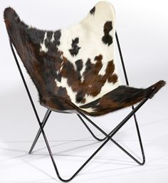 Circa50 Leather and Cowhide Butterfly Chairs