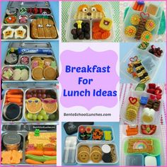 Breakfast  For Lunch Ideas. #schoollunch #lunchbox BentoSchoolLunches.com www.facebook.com/BentoSchoolLunches