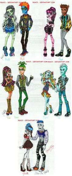 Fright Date by Rsac3 on deviantART. Another Monster High line I wish was real. Amazing!