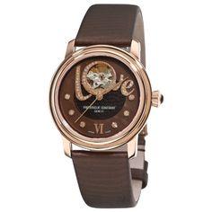 Frederique Constant Women`s FC310CLHB2P4 Ladies Automatic Brown Open Diamond Dial Watch $1,416.10