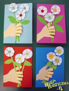 Bukiet kwiatów Kindergarten Crafts, Flower Crafts, Collage, Activities, Education, Spring, Flowers, Christmas, School