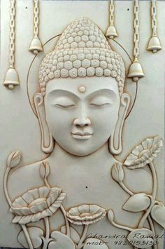 "Zen - ""Tomorrow is only found in the calendar of fools. Clay Wall Art, Mural Wall Art, Mural Painting, Clay Art, Buddha Kunst, Buddha Art, Buddha Decor, Meditation, Little Buddha"