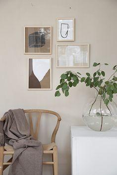 neutral bohemian gallery wall corner home decor Room Inspiration, Interior Inspiration, Interior Architecture, Interior And Exterior, Natural Interior, Piece A Vivre, Scandinavian Home, Interiores Design, Interior Styling