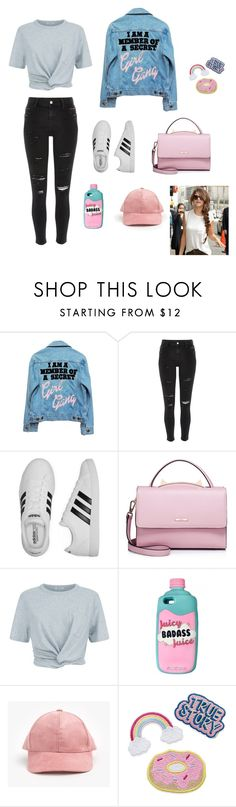 """"" by laurenoell ❤ liked on Polyvore featuring High Heels Suicide, River Island, adidas, WithChic, T By Alexander Wang, denimjackets and WardrobeStaples"
