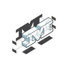 "Letra ""M"" O alfabeto explodido de Matt Stevens http://hellomattstevens.com/"